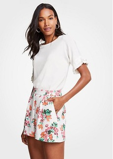Ann Taylor Petite Floral Drapey Shorts