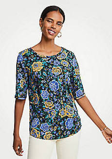Ann Taylor Petite Floral Easy Tee