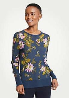 Ann Taylor Petite Floral Jacquard Sweater