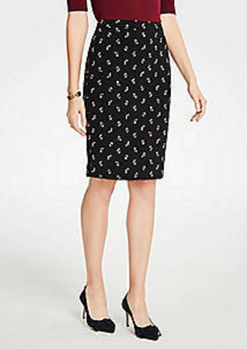 Ann Taylor Petite Floral Pencil Skirt