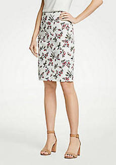 Ann Taylor Petite Floral Pencil Skirt