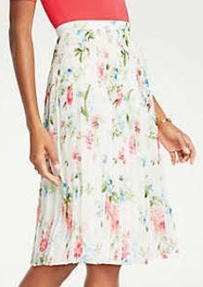 Ann Taylor Petite Floral Pleated Skirt