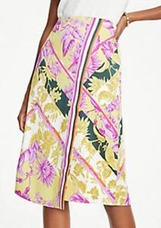 Ann Taylor Petite Floral Scarf Print Wrap Skirt