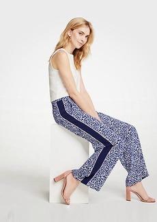 Ann Taylor Petite Floral Side Stripe Track Pants