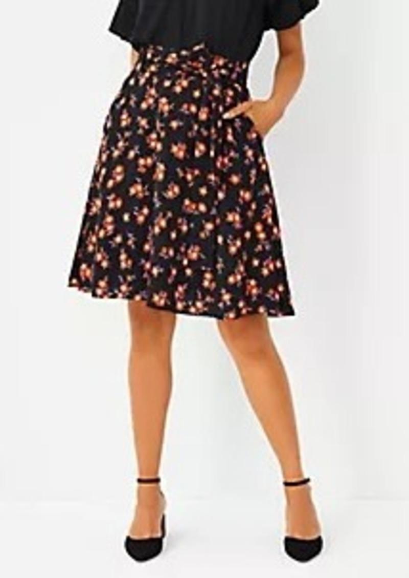 Ann Taylor Petite Floral Tie Waist Full Mini Skirt