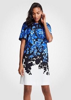 Ann Taylor Petite Floral Toile Flare Sleeve Shift Dress