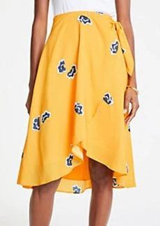 Ann Taylor Petite Floral Wrap Skirt