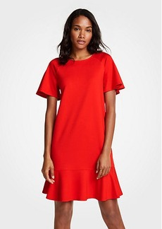 Ann Taylor Petite Flounce Shift Dress