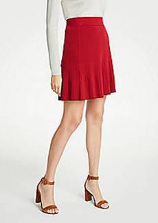 Ann Taylor Petite Flounce Sweater Skirt
