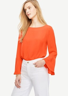 Petite Fluted Sleeve Blouse