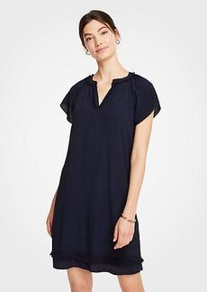 Ann Taylor Petite Fringe Shift Dress