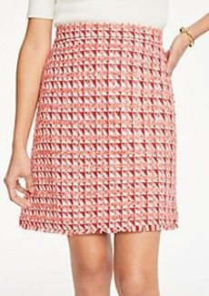 Ann Taylor Petite Fringe Tweed A-Line Skirt