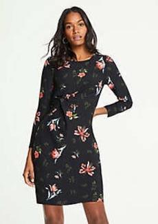 Ann Taylor Petite Garden Floral Knotted Shift Dress