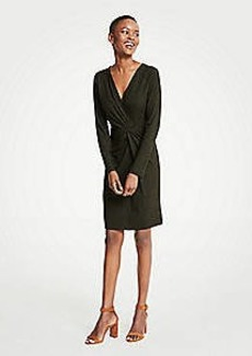 Ann Taylor Petite Gathered Rib Knit Dress