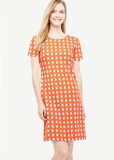 Petite Geo Block Shift Dress