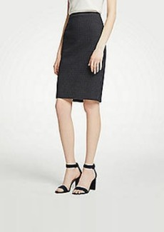 Ann Taylor Petite Geo Check Pencil Skirt