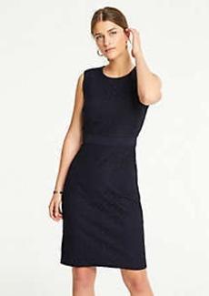 Ann Taylor Petite Geo Eyelet Sheath Dress