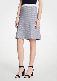 Ann Taylor Petite Geo Jacquard Flare Skirt