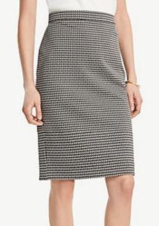 Ann Taylor Petite Geo Jacquard Pencil Skirt