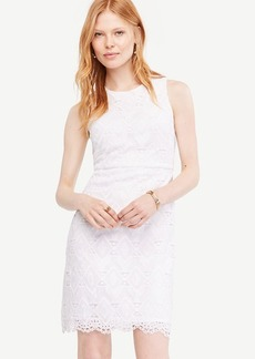 Petite Geo Lace Sheath Dress