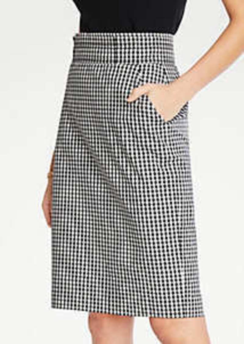 Ann Taylor Petite Gingham Pencil Skirt