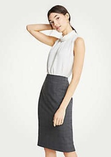 Ann Taylor Petite Glen Plaid Pencil Skirt