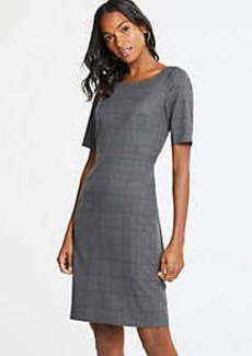 Ann Taylor Petite Glen Plaid Sheath Dress