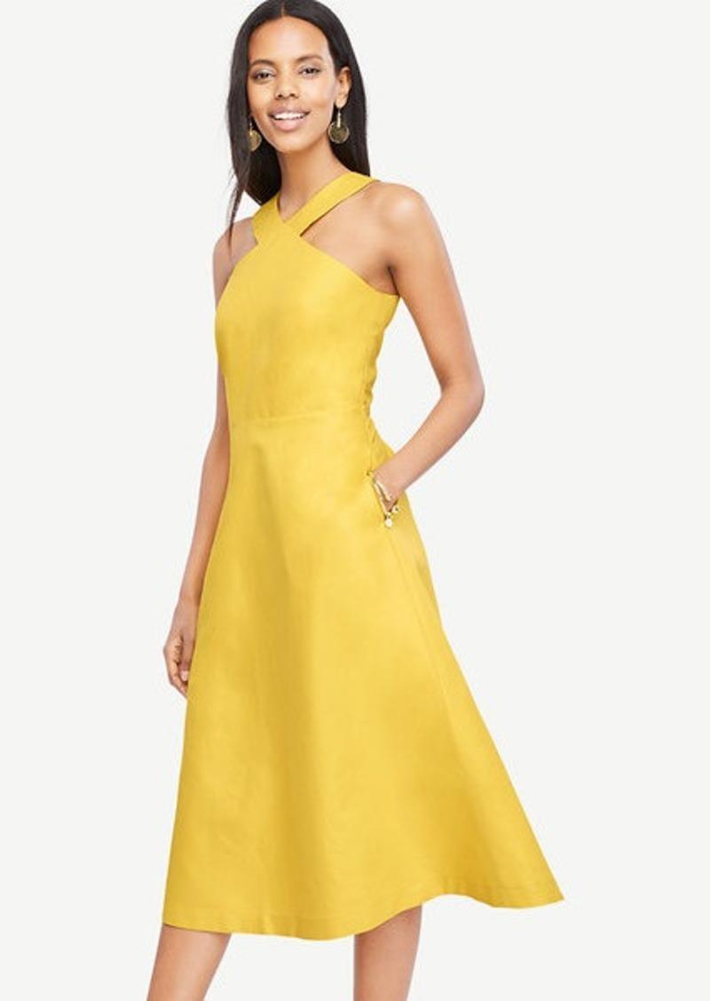 ca6124a79431 Ann Taylor Petite Halter Midi Dress | Dresses