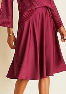 Ann Taylor Petite Hammered Satin Full Skirt