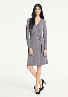 Ann Taylor Petite Herringbone Matte Jersey Wrap Dress