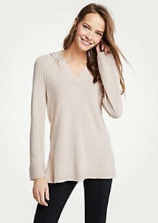 Ann Taylor Petite Hoodie Tunic Sweater