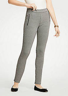 Ann Taylor Petite Houndstooth Zip Pocket Leggings