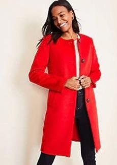 Ann Taylor Petite Jewel Neck Coat