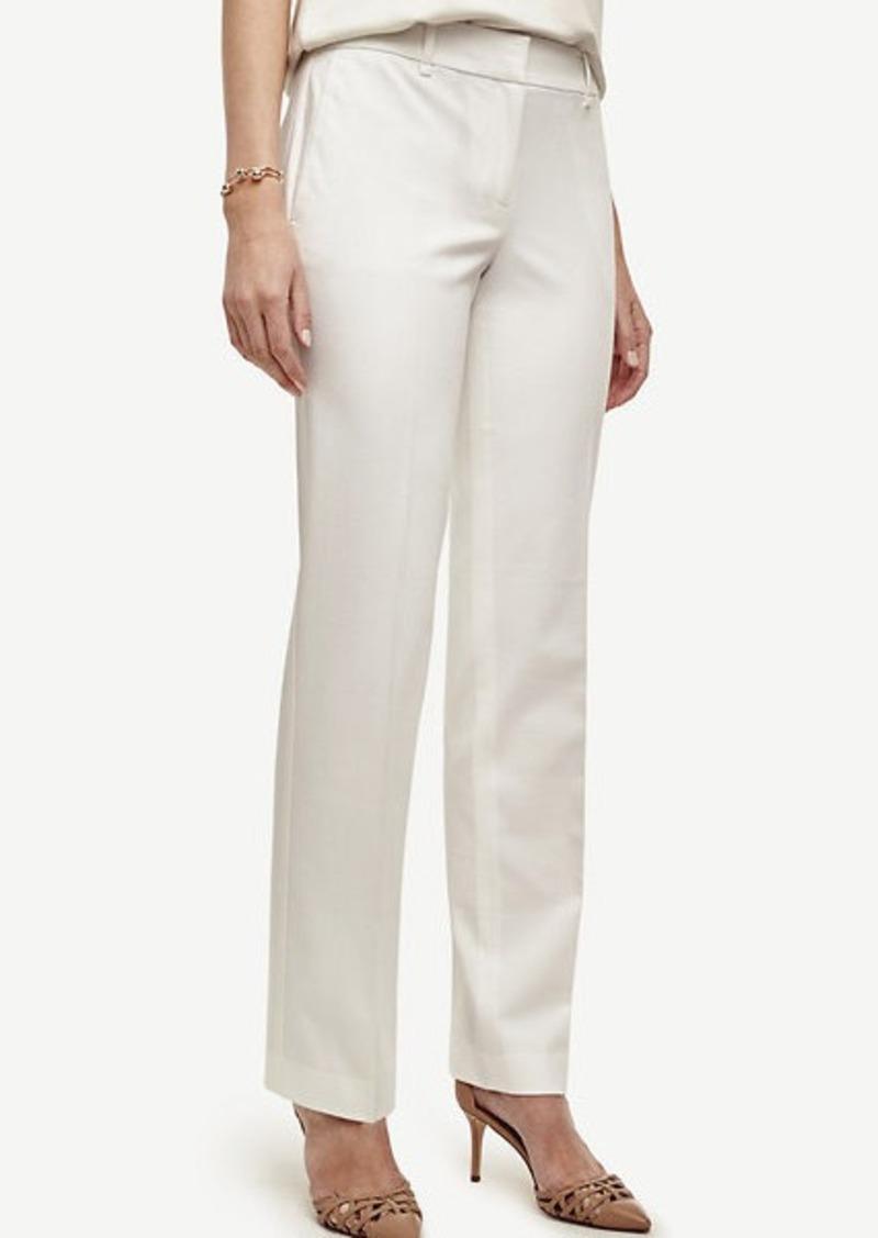 Ann Taylor Petite Kate Cotton Blend Straight Leg Pants