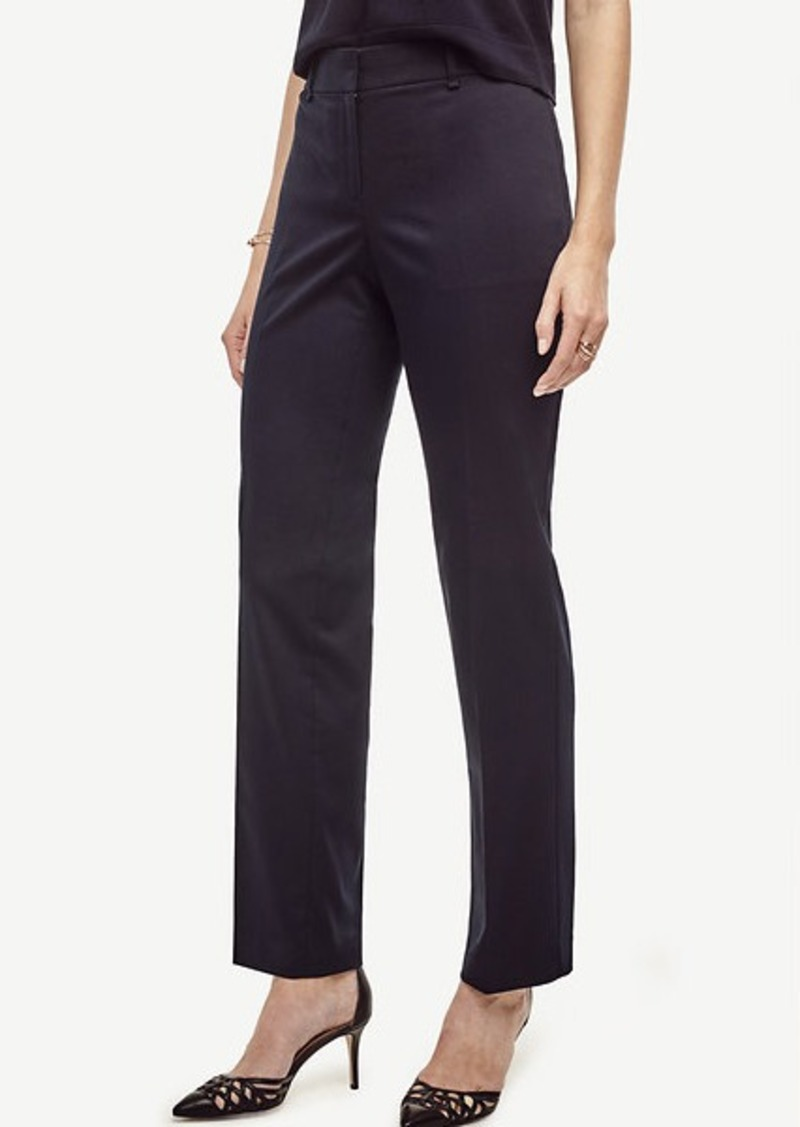 Ann Taylor Petite Kate Cotton Sateen Straight Leg Pants