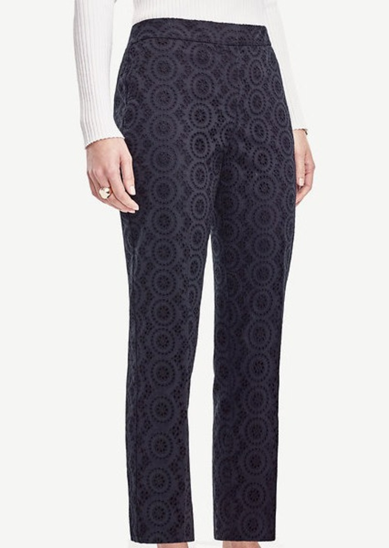 Ann Taylor Petite Kate Eyelet Everyday Ankle Pants