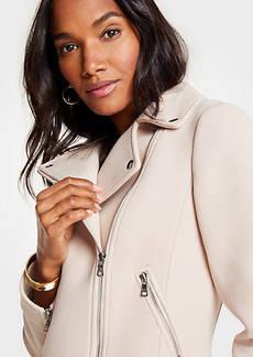 Ann Taylor Petite Knit Twill Moto Jacket