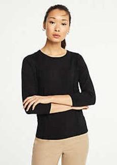 Ann Taylor Petite Lace Applique Sweater