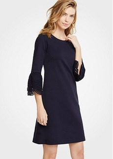 Ann Taylor Petite Lace Flare Sleeve Shift Dress