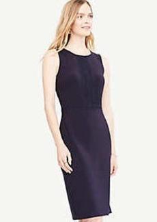 Ann Taylor Petite Lace Trim Sheath Dress