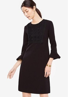 Petite Lacy Fluted Shift Dress