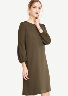 Petite Lantern Sleeve Shift Dress