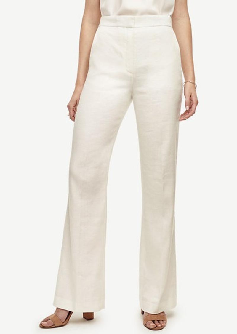 Ann Taylor Petite Linen Blend Flare Pants
