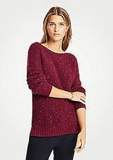 Ann Taylor Petite Marled Boatneck Sweater
