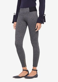 Ann Taylor Petite Marled Knit Ankle Zip Leggings