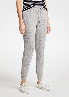 Ann Taylor Petite Marled Knit Jogger Pants