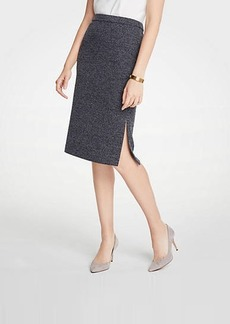 Ann Taylor Petite Marled Side Slit Pencil Skirt