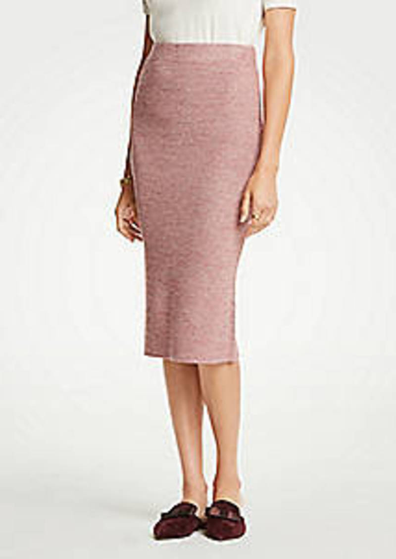 Ann Taylor Petite Marled Sweater Pencil Skirt