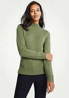 Ann Taylor Petite Marled Turtleneck Sweater
