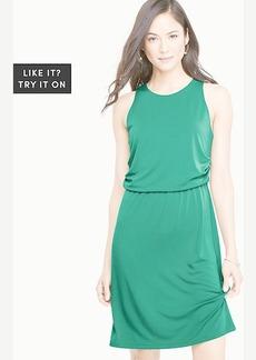 Petite Matte Jersey Side Drape Dress